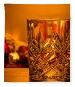 Whiskey In A Glass Fleece Blanket