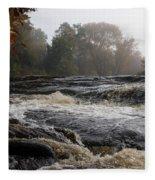 Whiskey River - Foggy Fall Waterscape Fleece Blanket