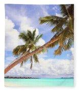 Whispering Palms. Maldives Fleece Blanket