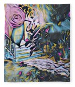 Whispers Of Spring Fleece Blanket