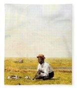 Whistling For Plover 1874 Fleece Blanket