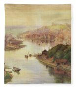 Whitby From Larpool Fleece Blanket