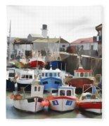 Whitby Harbour Fleece Blanket