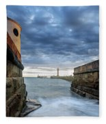 Whitby Morning Tide 2 Fleece Blanket