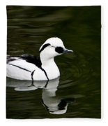White And Black Duck Fleece Blanket