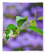 White And Purple Spring 2 Fleece Blanket