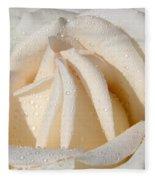 White Angel Rose Fleece Blanket