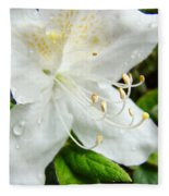 White Azalea Flower 9 Azaleas Raindrops Spring Art Prints Baslee Troutman Fleece Blanket