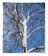 White Bark Fleece Blanket