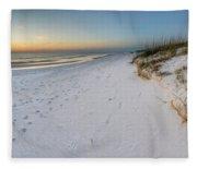 White Beaches Of Cape San Blas Fleece Blanket