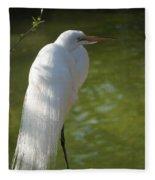 White Beauty Of The Marsh Fleece Blanket