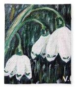 White Bells Fleece Blanket