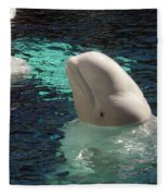 White Beluga Whale 1 Fleece Blanket