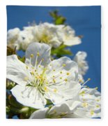 White Blossoms Art Prints Spring Tree Blossoms Canvas Baslee Troutman Fleece Blanket