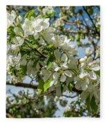 White Blossoms Fleece Blanket