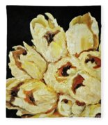 White Bouquet Fleece Blanket