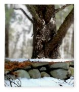 White Breasted Nuthatch Fleece Blanket