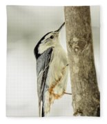 White-breasted Nuthatch Fleece Blanket