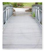 White Bridge Fleece Blanket