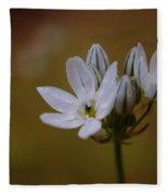 White Brodiaea Fleece Blanket