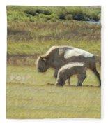 White Buffalo Fleece Blanket