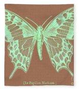 White Butterfly Swallow Tail Le Papillon Machaon Fleece Blanket