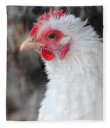 White Chicken Fleece Blanket