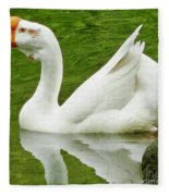 White Chinese Goose Fleece Blanket