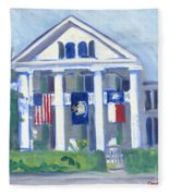 White Columns Fleece Blanket