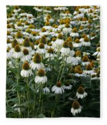 White Coneflower Field Fleece Blanket