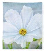 White Cosmos Fleece Blanket