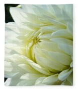 White Dahlia Flower Art Print Canvas Floral Dahlias Baslee Troutman Fleece Blanket