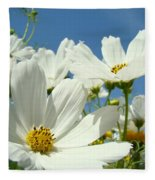 White Daisy Flowers Fine Art Photography Daisies Baslee Troutman Fleece Blanket