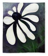 White Daisy Fleece Blanket