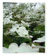 White Dogwood Flowers 6 Dogwood Tree Flowers Art Prints Baslee Troutman Fleece Blanket
