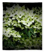 White Dogwood Fleece Blanket