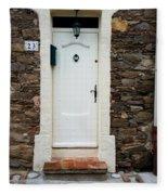 White Door 23 Fleece Blanket