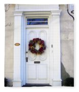White Door In Charleston Sc Fleece Blanket