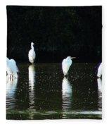 White Egrets Fleece Blanket