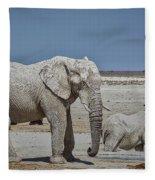 White Elephants Fleece Blanket