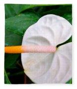 White Flamingo Flower Fleece Blanket