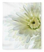 White Floral Fleece Blanket