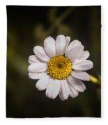 White Flower 1 Fleece Blanket
