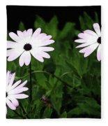 White Flowers In The Garden Fleece Blanket