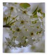 White Flowers On A Tree Fleece Blanket