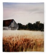 White For Harvest Fleece Blanket