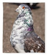 White-gray Pigeon Profile Fleece Blanket