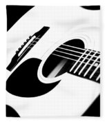 White Guitar 4 Fleece Blanket