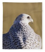 White Gyrfalcon Fleece Blanket