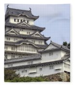White Heron Castle - Himeji City Japan Fleece Blanket